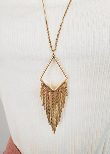 Geometric Fringe Necklaces - 2 Colors!