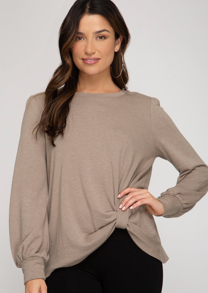 Soft Twist Long Sleeve Tops - 3 Colors!