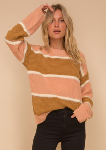 Blush & Mustard Sweater