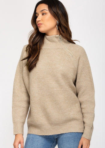 Ribbed Zip Pullovers - 2 Colors!
