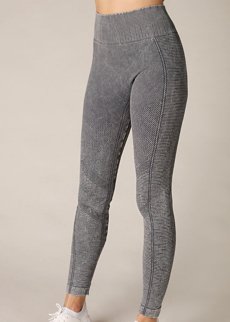 Ribbed Vintage Gray Leggings