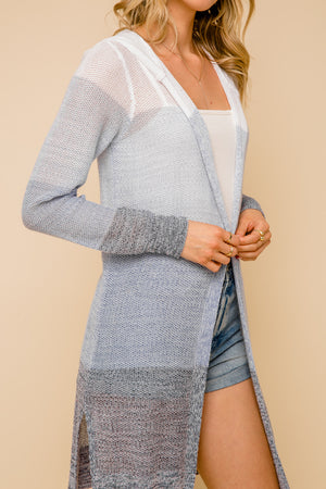 Blue Skies Summer Hooded Cardigan