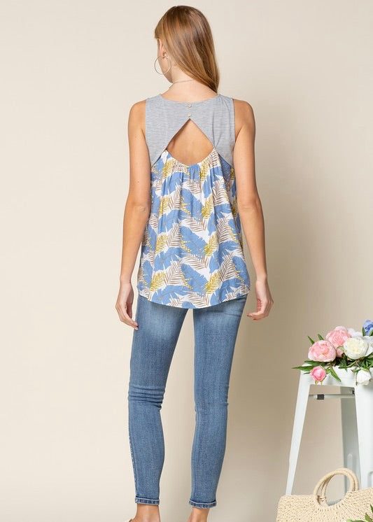 Open Back Floral & Striped Tanks