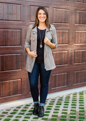 Soft Taupe Gray Jacket