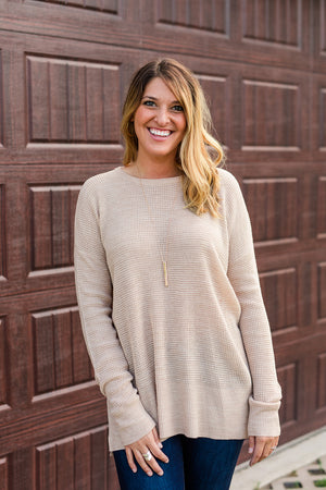 Must Have Beige Knit Long Sleeve