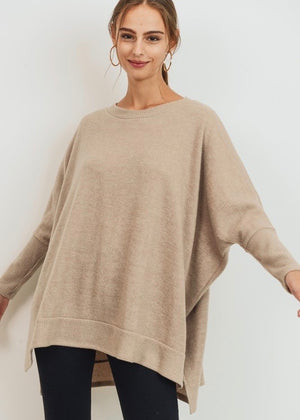 The Uptown Pullover - Taupe
