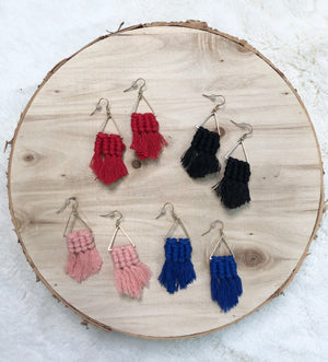 Triangle Macrame Earrings