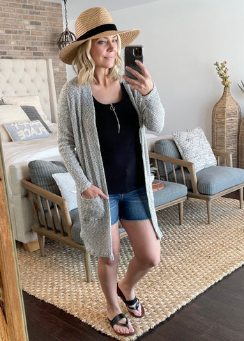Salt & Pepper Lightweight Cardigan