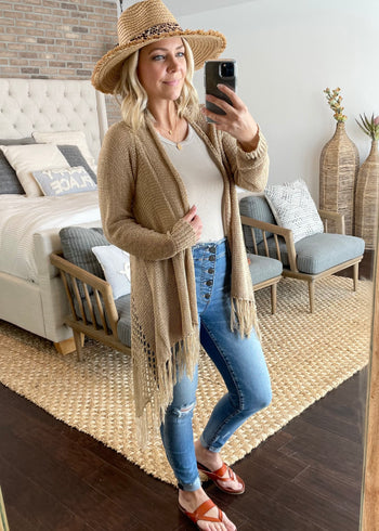 Knit Fringe Cardigans - 4 Colors!