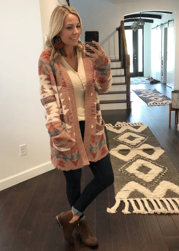 Super Soft Aztec Cardigan