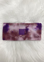 C.C Wine & Purple Tie Dye Headband