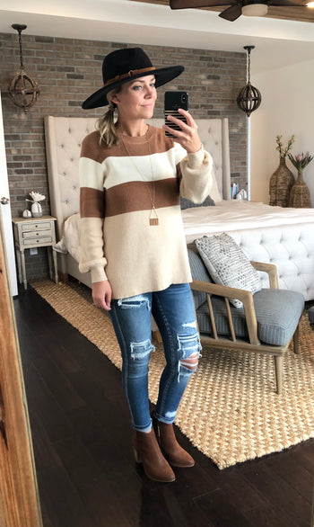Mocha & Beige Sweater
