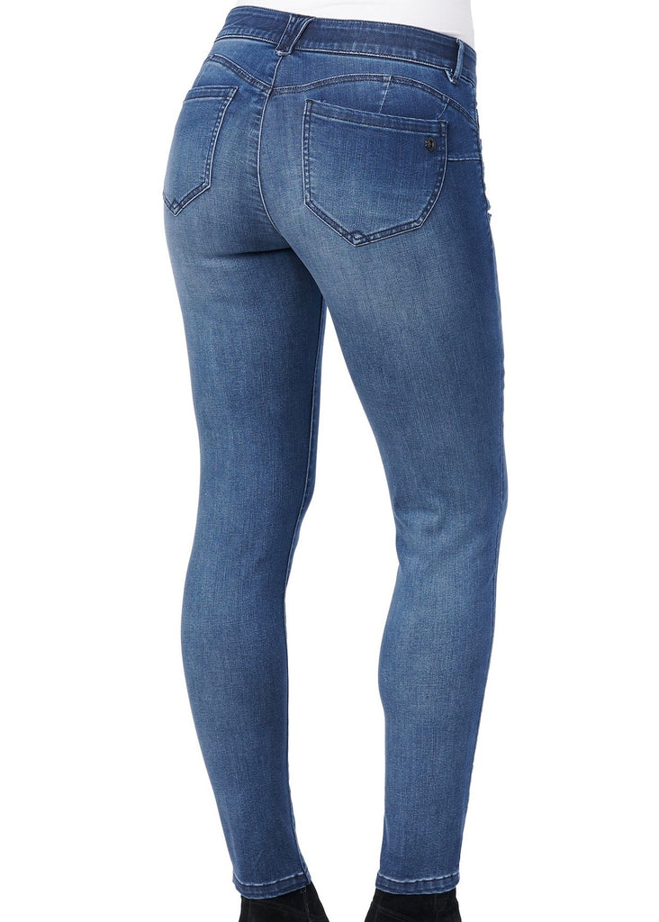 Democracy Luxe Ab Solution Destructed Booty Lift Jeans
