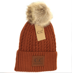 C.C Double Braided Pom Hats