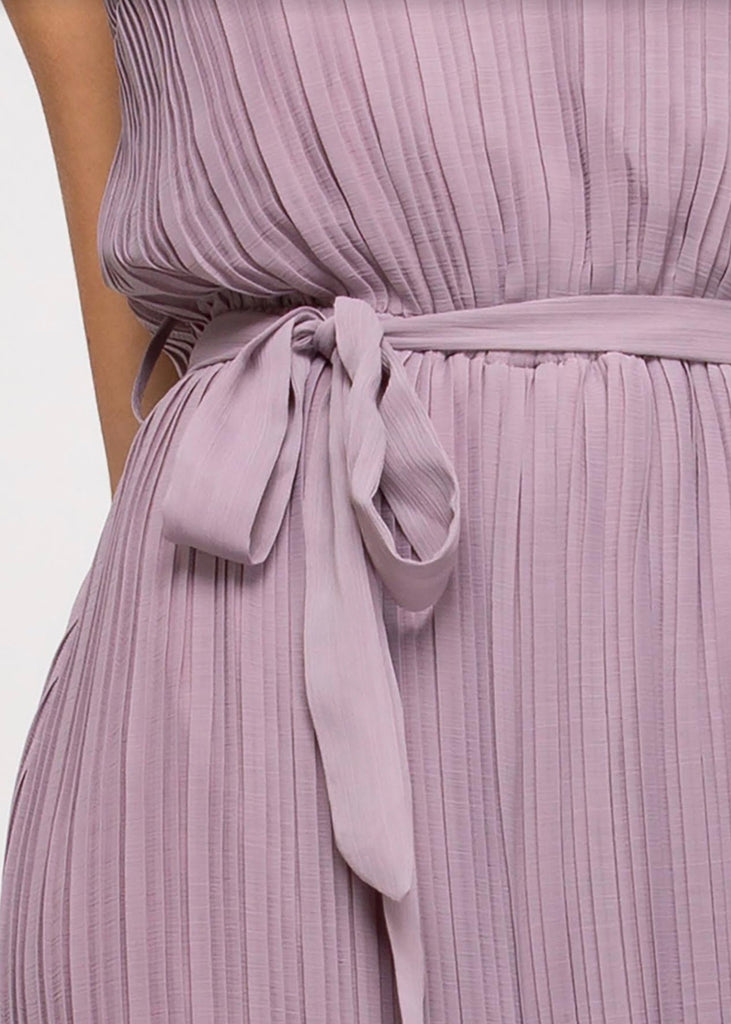 Pleated Lavender Jumpsuit