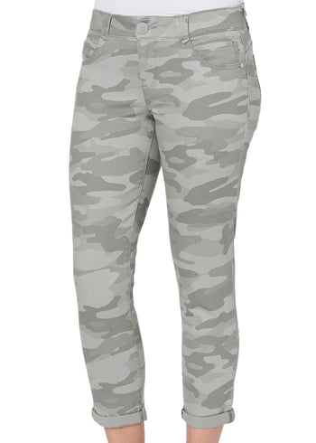 Democracy Camo Ab Solution Crop Ankle Skimmer Pants - 2 Colors!