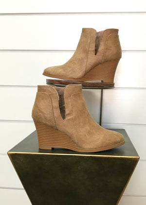 Hannah Side Slit Bootie - Light Caramel