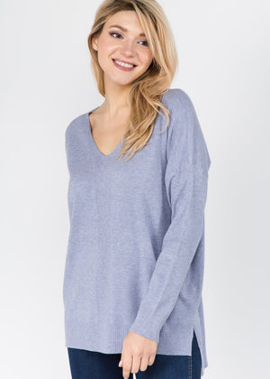 Just Like Cashmere Pullover - Dusty Blue
