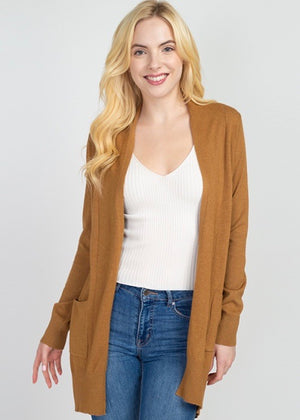Just Like Cashmere Pocket Cardigan - Mustard