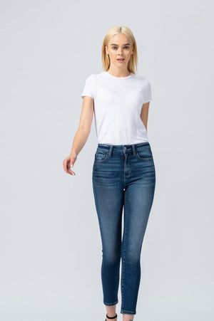 Medium Wash High Rise Vervet Ankle Skinny