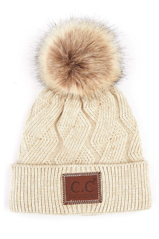 C.C Geometric Knit Beanies - 5 Colors!