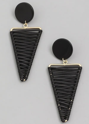 Zig Zag Triangle Earrings