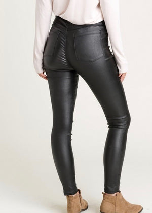 Black Faux Leather Jeggings