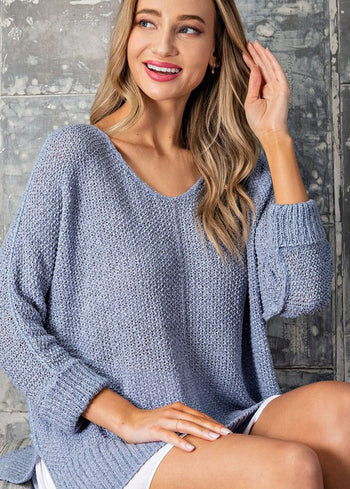Cuffed Knit Summer Pullovers - 2 Colors!