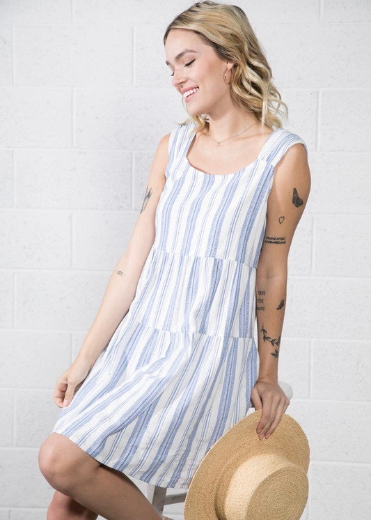 Striped Tiered Dresses - 2 Colors!