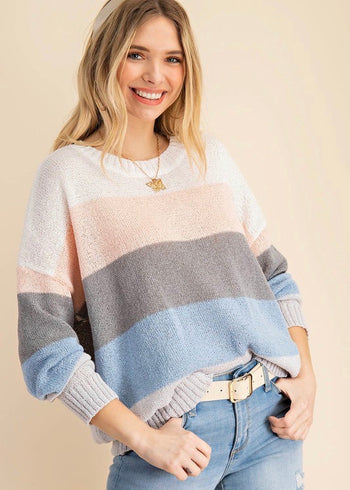 Blush Colorblock Summer Pullover