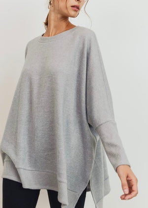 The Uptown Pullover - Heather Gray
