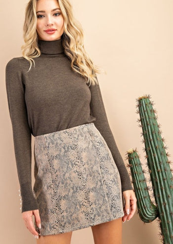 Brown Snake Skirt