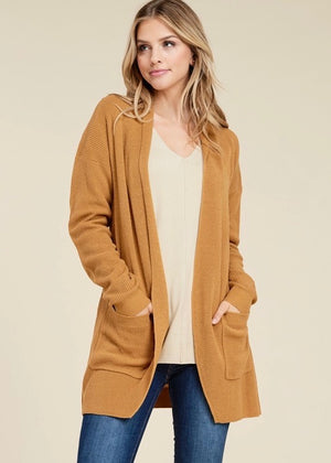 Cozy Nights Cardigan - Camel