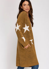 Camel Star Cardigan