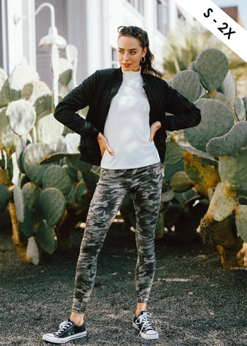 Black Camo Jeggings