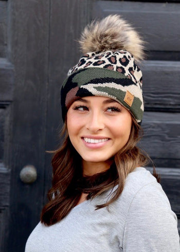 Animal & Camo Pom Hats