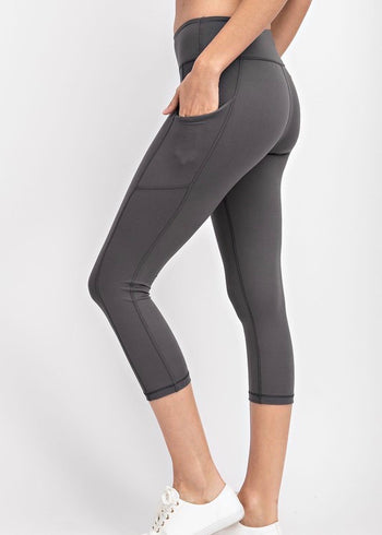 NINES Cropped Butter Pocket Leggings - 3 Colors!