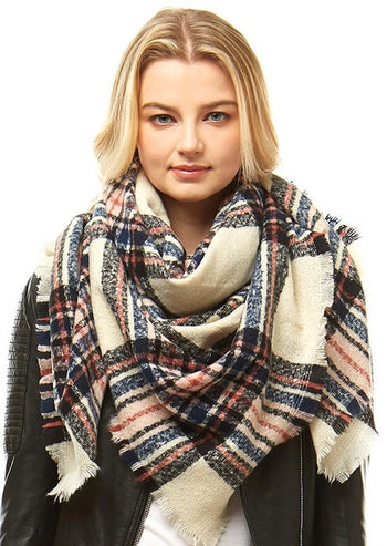 Plaid Blanket Scarves - 4 Colors!