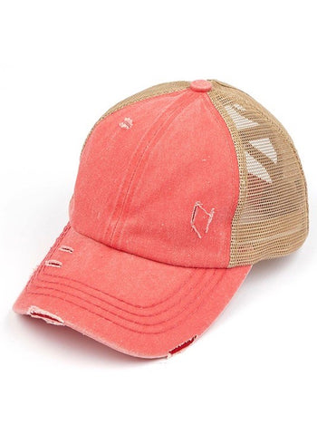 C.C Washed Denim Criss Cross Caps - 6 Colors!