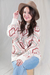 Autumn Leaves Soft Aztec Sweater