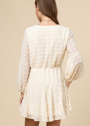Cream Swiss Dot Dress