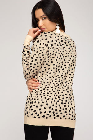 Cream & Black Dotted Pullover
