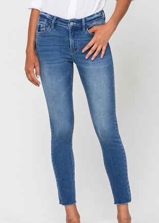 Vervet By Flying Monkey Raw Hem Ankle Skinny Jeans
