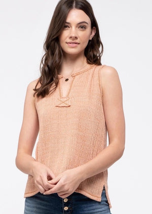 Dusty Peach Knit Tank
