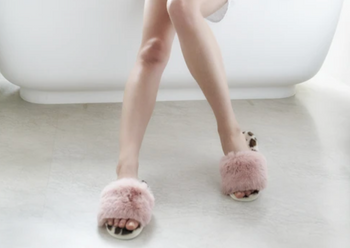 Pink & Animal Faux Fur Slippers