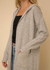 Gray Speckled Cardigan