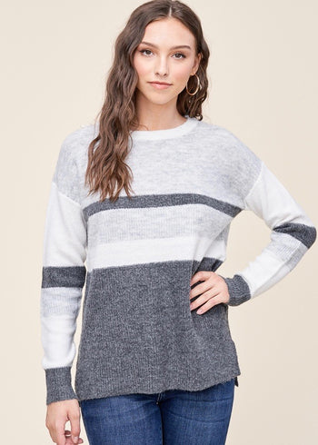 Gray Changing of the Seasons Lightweight Sweater