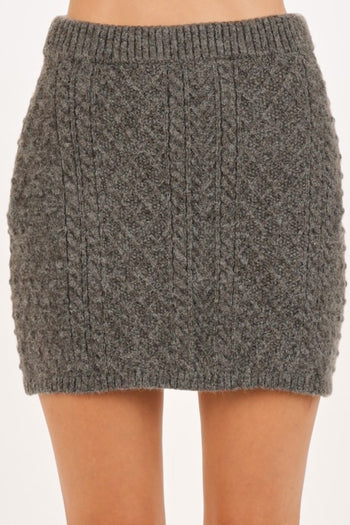 $18 DEAL! - Cable Knit Sweater Skirts - 2 Colors!
