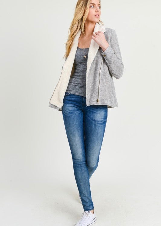 Gray Tweed Soft Lined Jacket