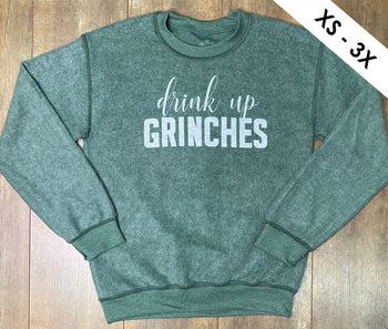 Drink Up Grinches Inverted Sweatshirt